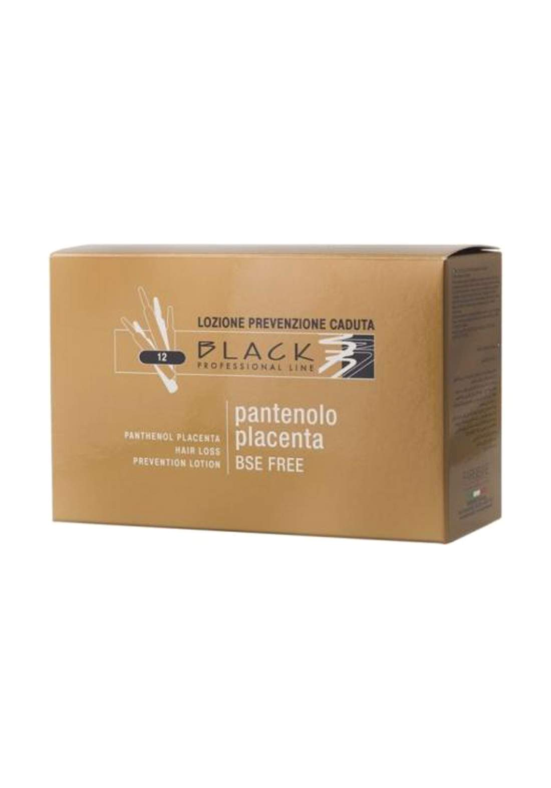 Black Professional Fiale Black Placenta Pantenolo 10ml  امبولات للشعر