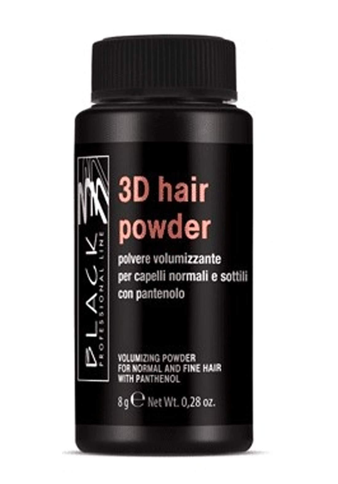 Black Professional 3D Voluminizer Hair Powder 8g بودرة للشعر