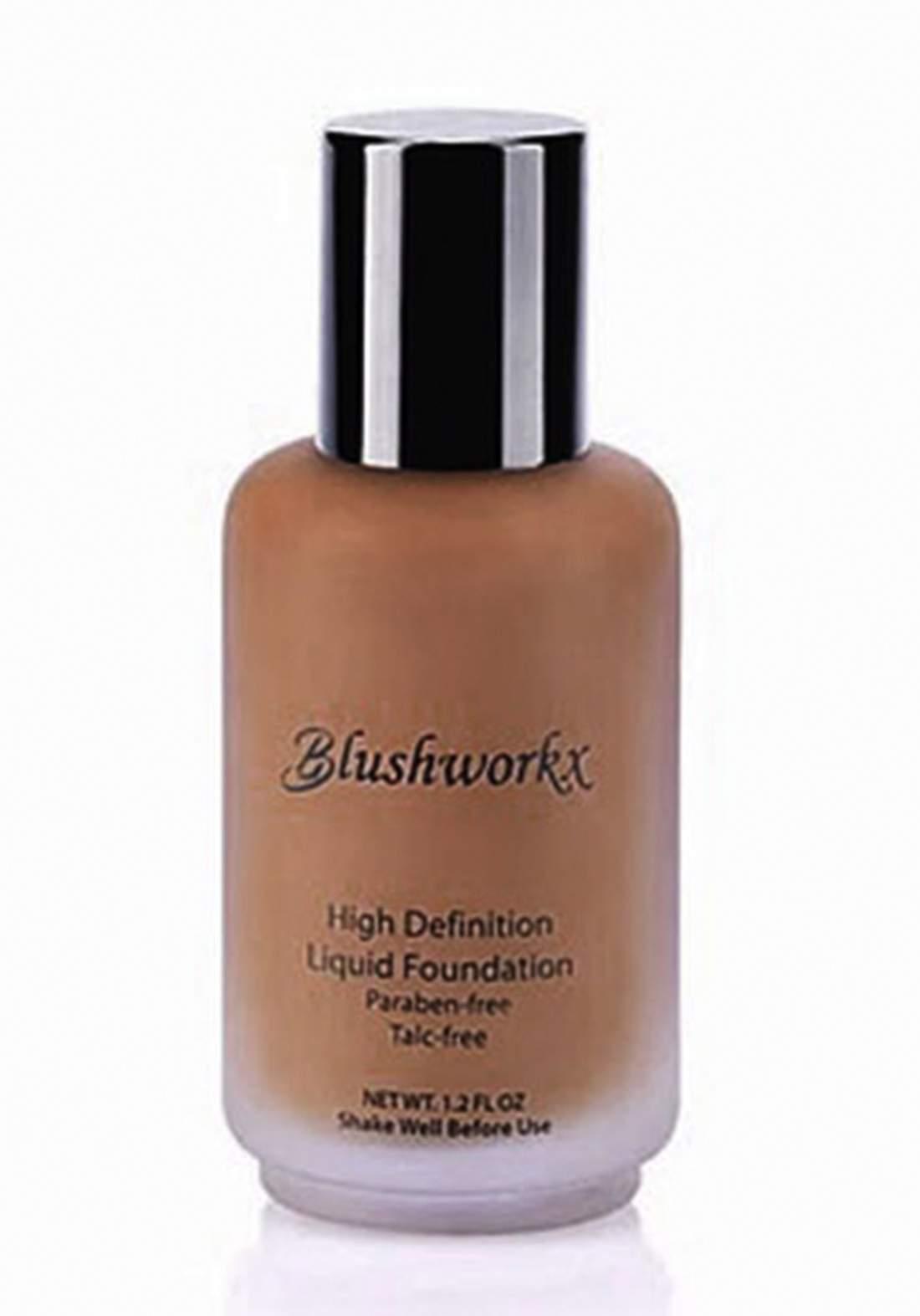Blushworkx Hollywood High Definition Liquid Foundation 35ml Medium Dark كريم اساس