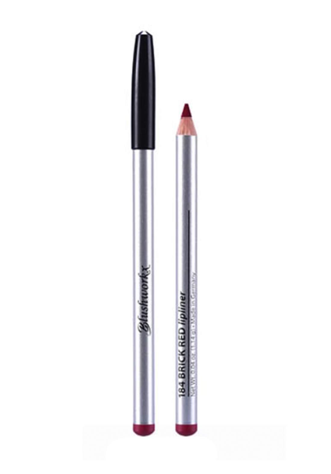 Blushworkx Hollywood Lip Liner Pencil No.184 Brick Red 1.14g محدد الشفاه