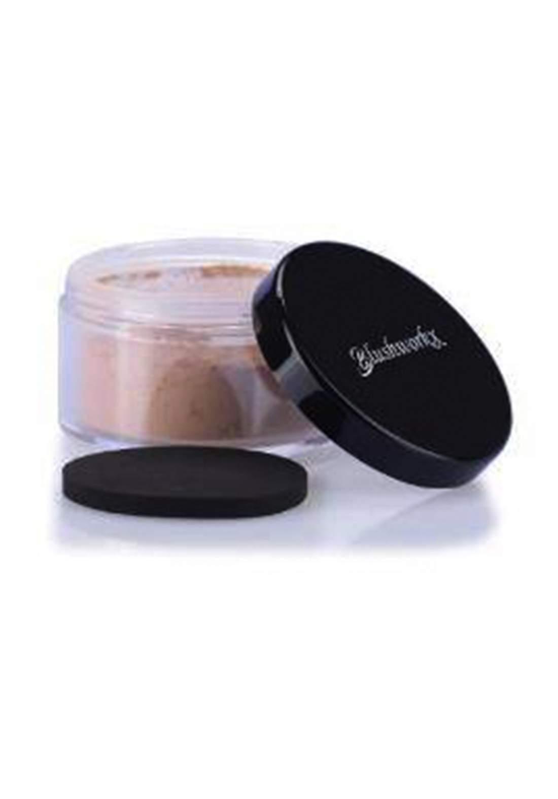 Blushworkx Hollywood Loose Mineral Powder  Foundation SPF 15 7g Medium لوس باودر مع واقي شمس