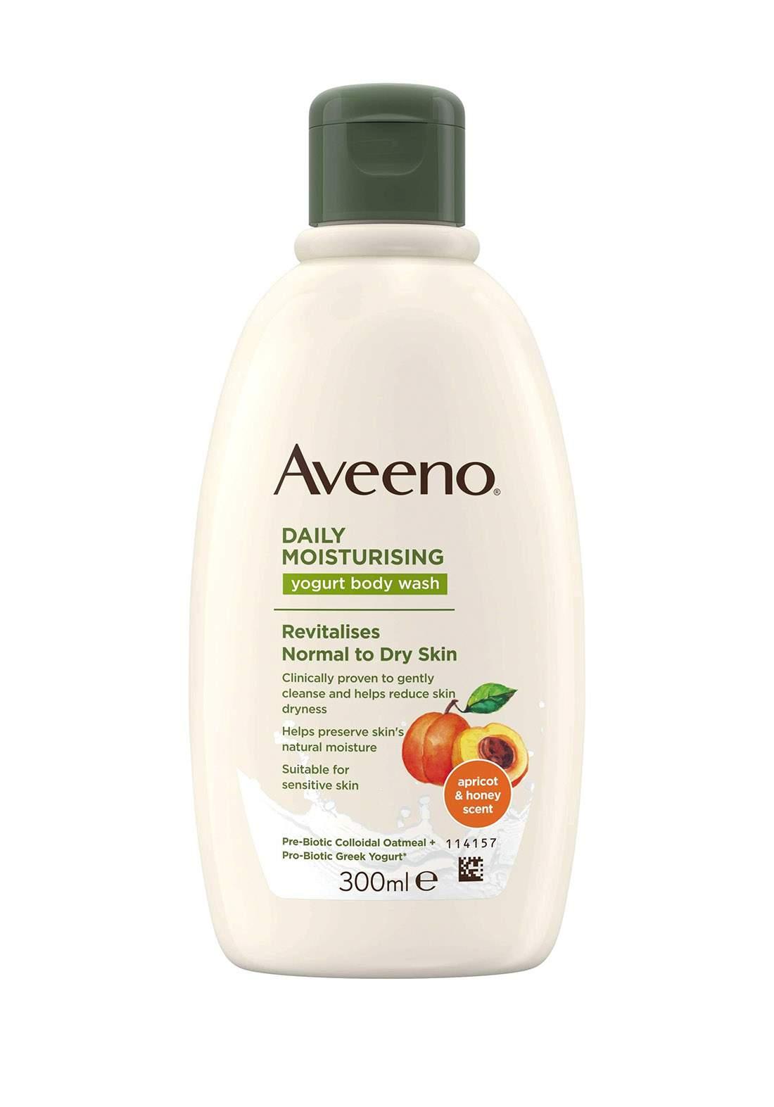 Aveeno  (114158) Daily Moisturising Yogurt Body Wash Apricot & Honey 300ml غسول الجسم