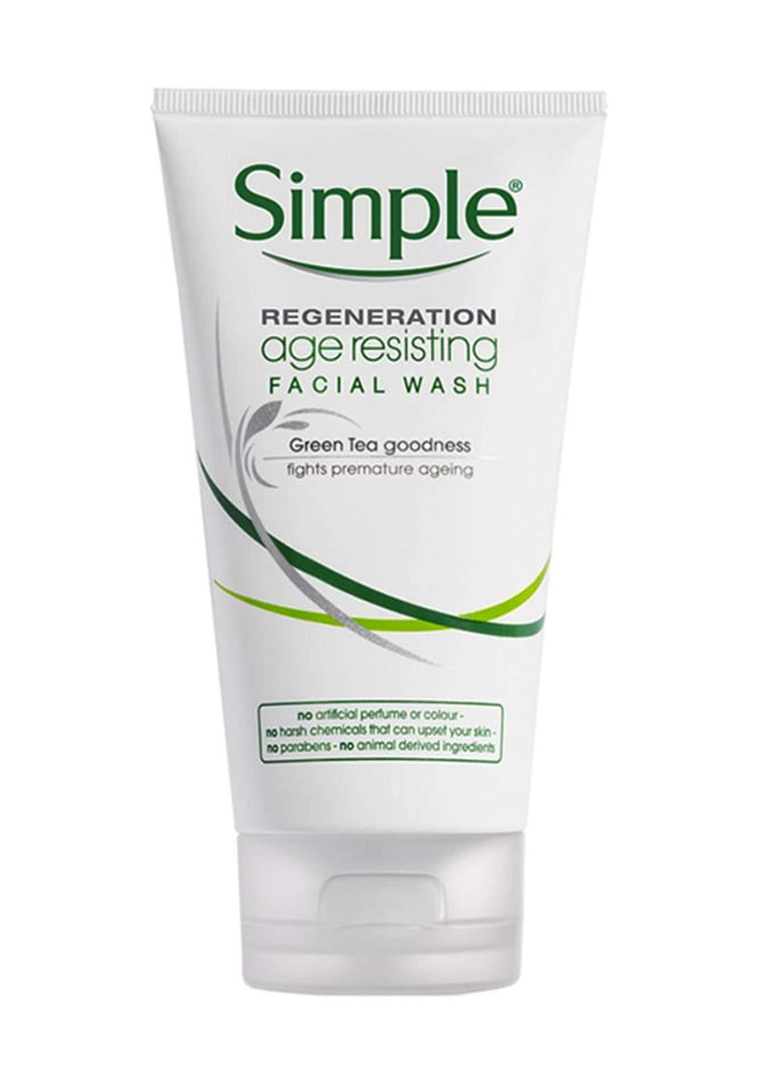 Simple (108332) Regeneration Age Resisting Facial Wash 150ml غسول الوجه مضاد للتجاعيد