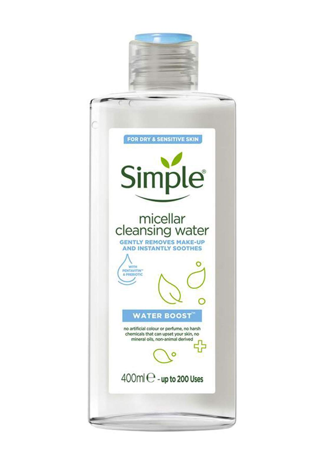 Simple (027941) Water Boost Micellar Cleansing Water 400ml ماء ميسلار منظف للوجه