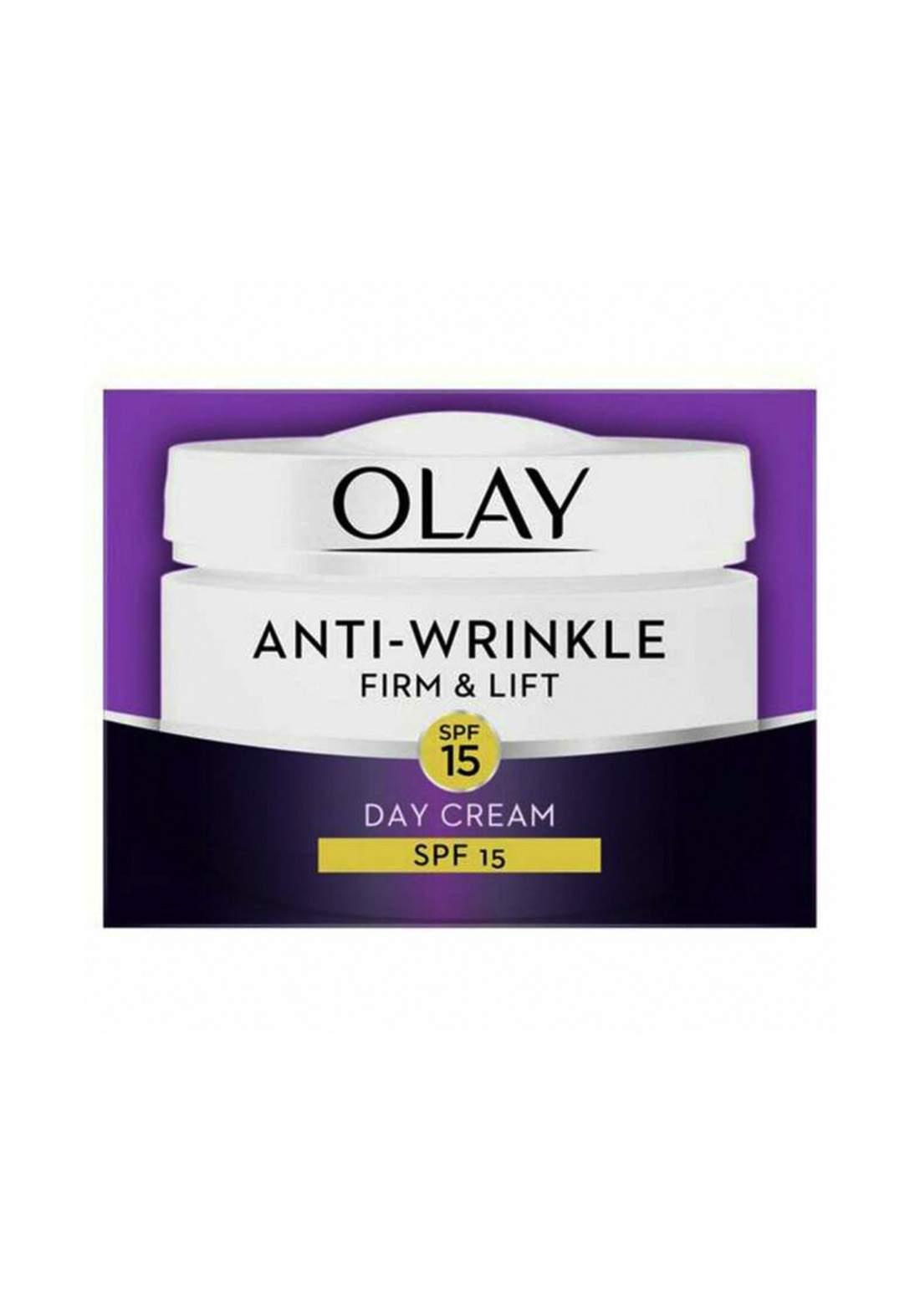 Olay (1137a007f0) Anti-Wrinkle Firm & Lift Day Cream Spf15 50ml كريم نهاري مقاوم للتجاعيد