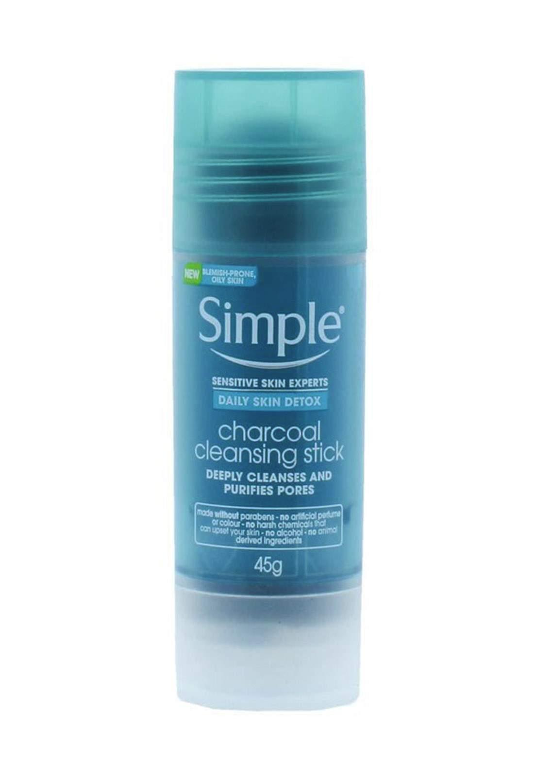 Simple (00361xda) Daily Skin Detox Charcoal Cleansing Stick 45g منظف للبشرة