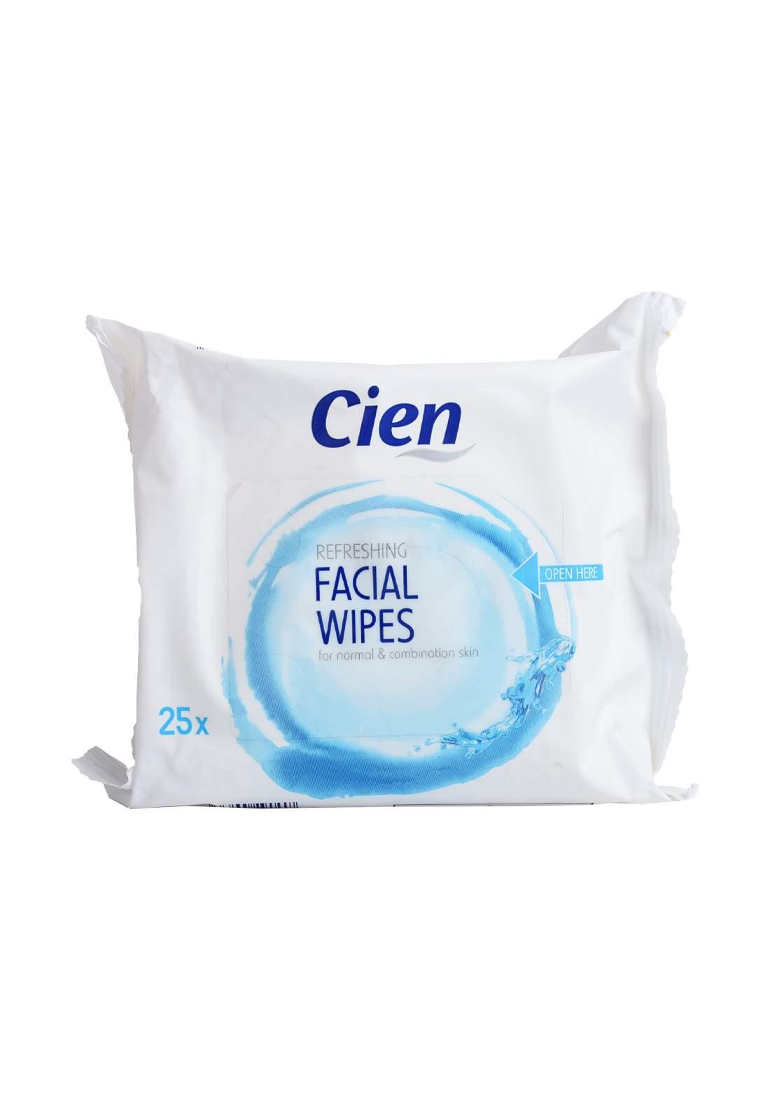 Cien Refreshing Facial Wipes مناديل تنظيف الوجه