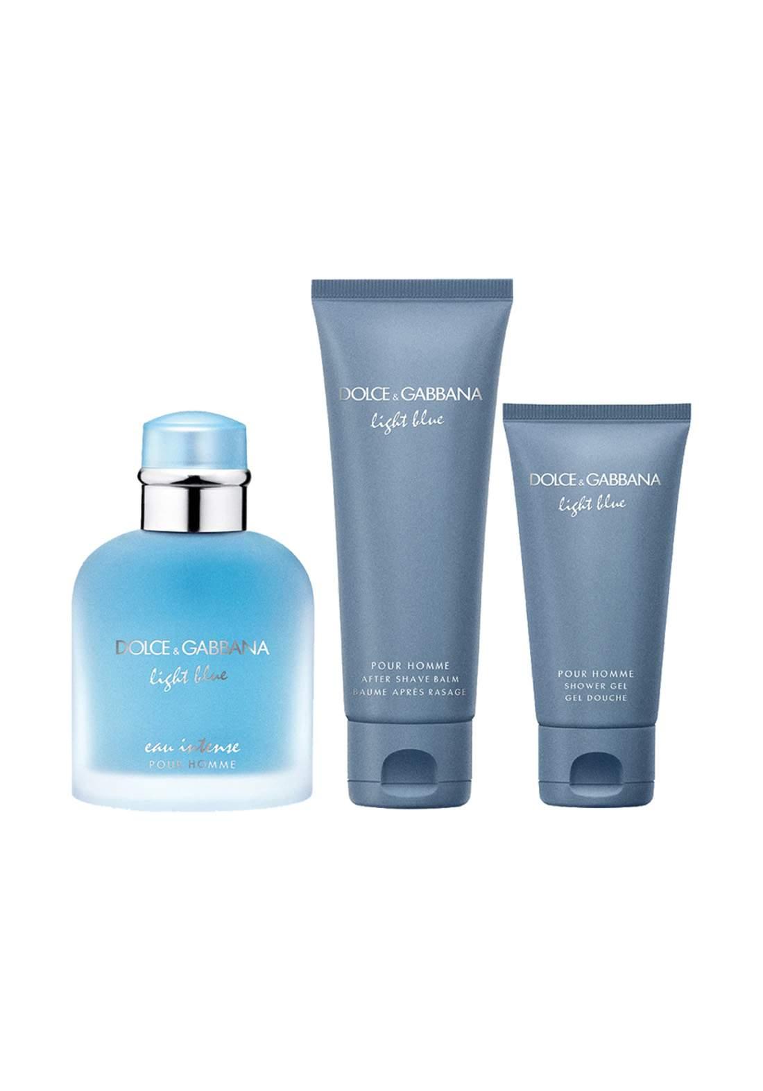 Dolce & Gabbana Light Blue eau Intense 3Pcs Set سيت رجالي
