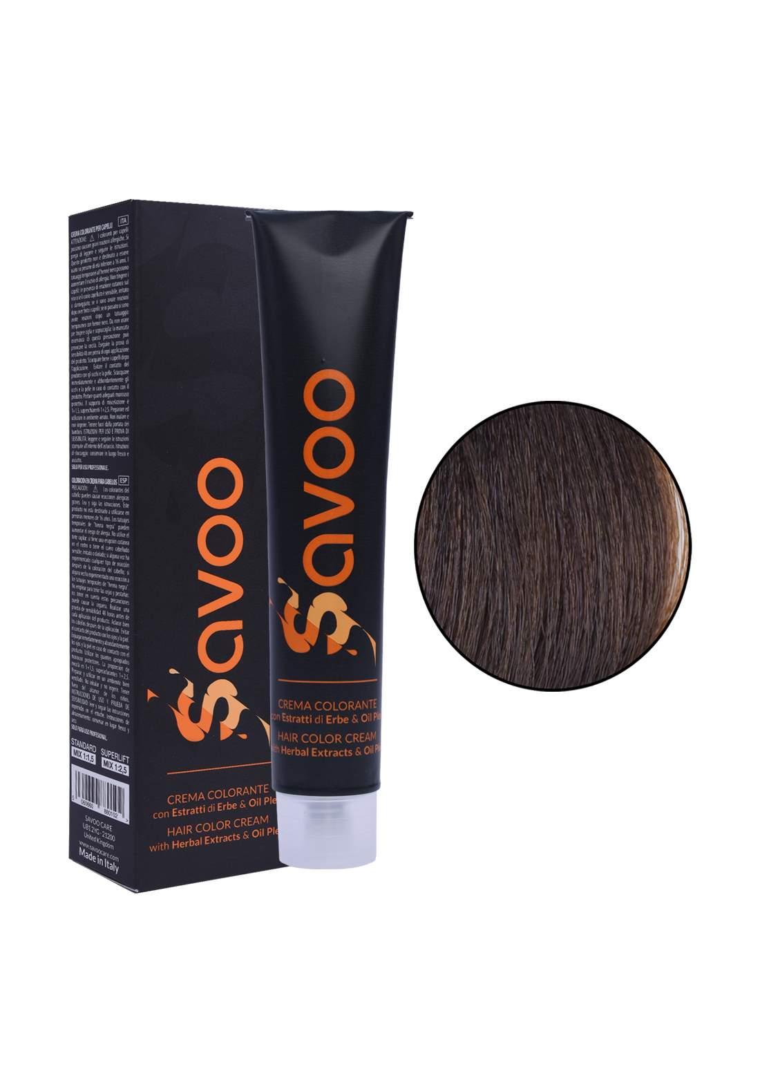 Savoo Hair Color Cream No.5.1 Light Ash Titanium Brown100ml صبغة الشعر