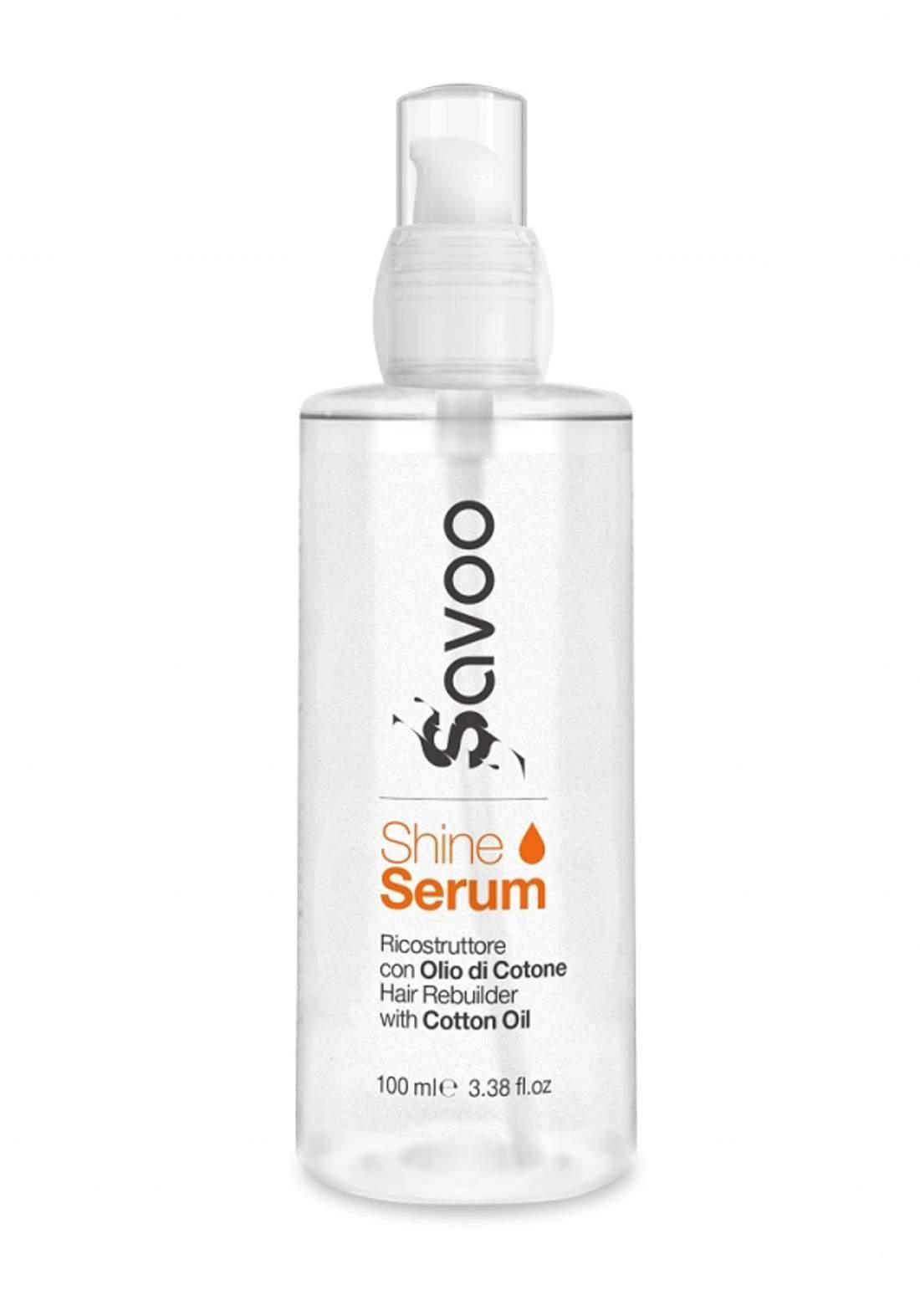 Savoo Shine Serum Ricostruttore for Hair 100ml سيرم للشعر