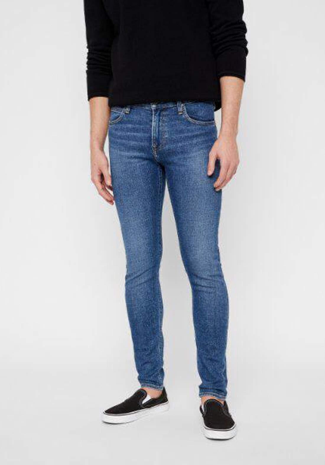 بنطلون جينز رجالي ازرق اللون من Lee