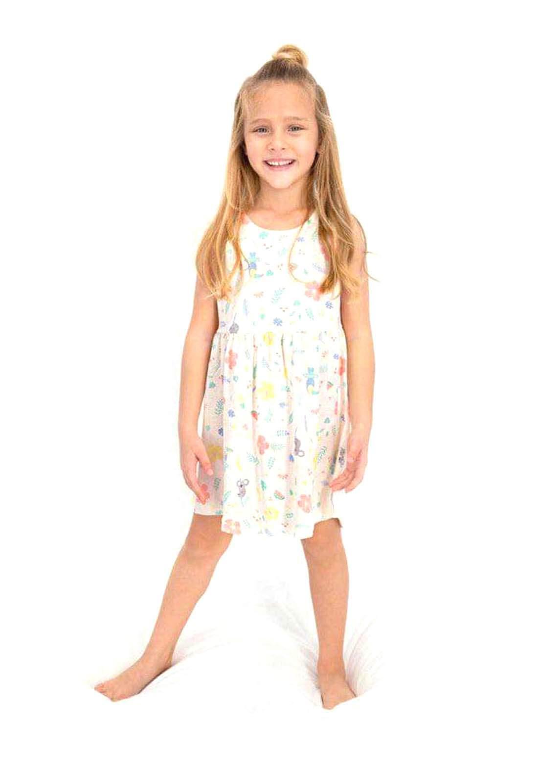 فستان بناتي اوف وايت اللون
