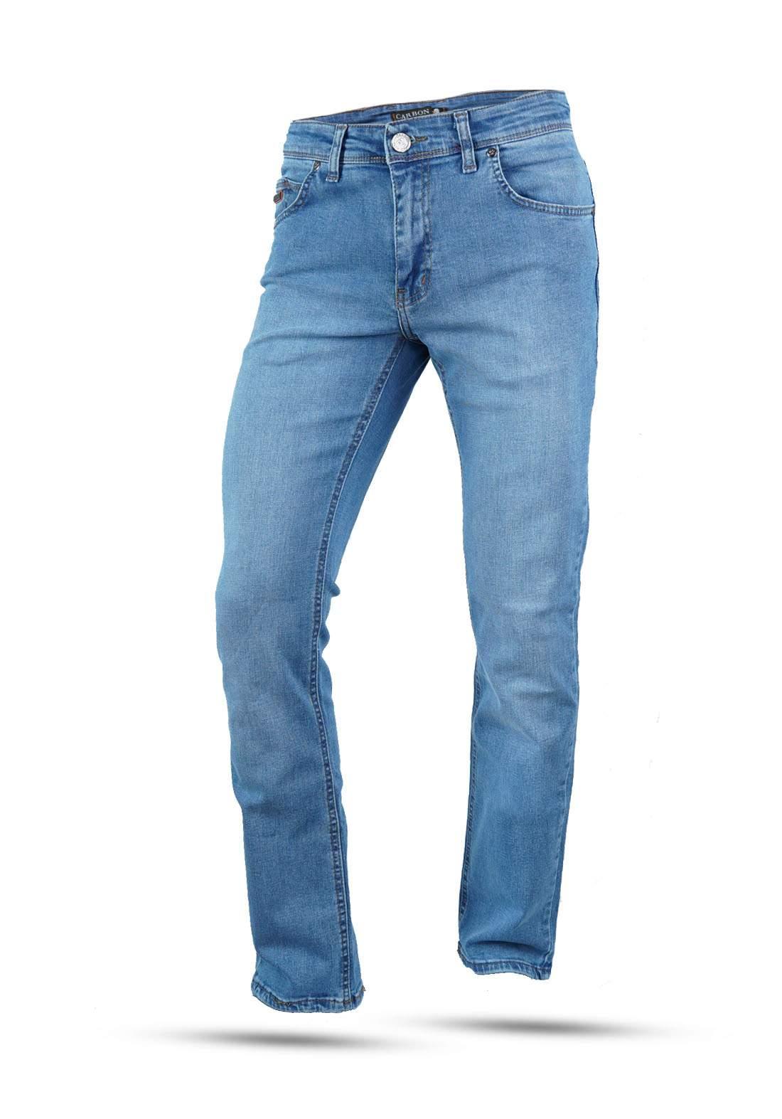 بنطلون جينز رجالي سمائي اللون