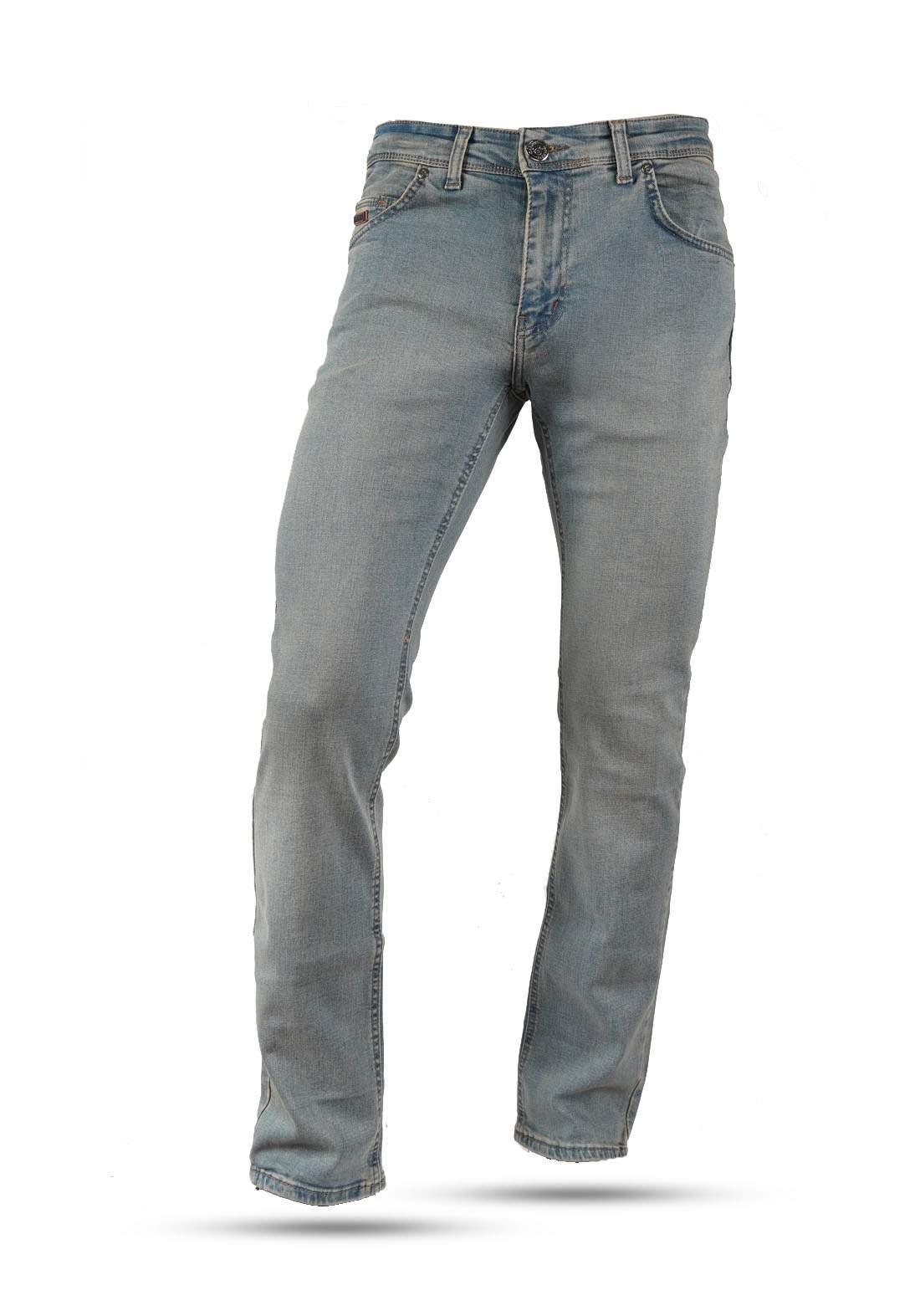بنطلون جينز رجالي ثلجي اللون