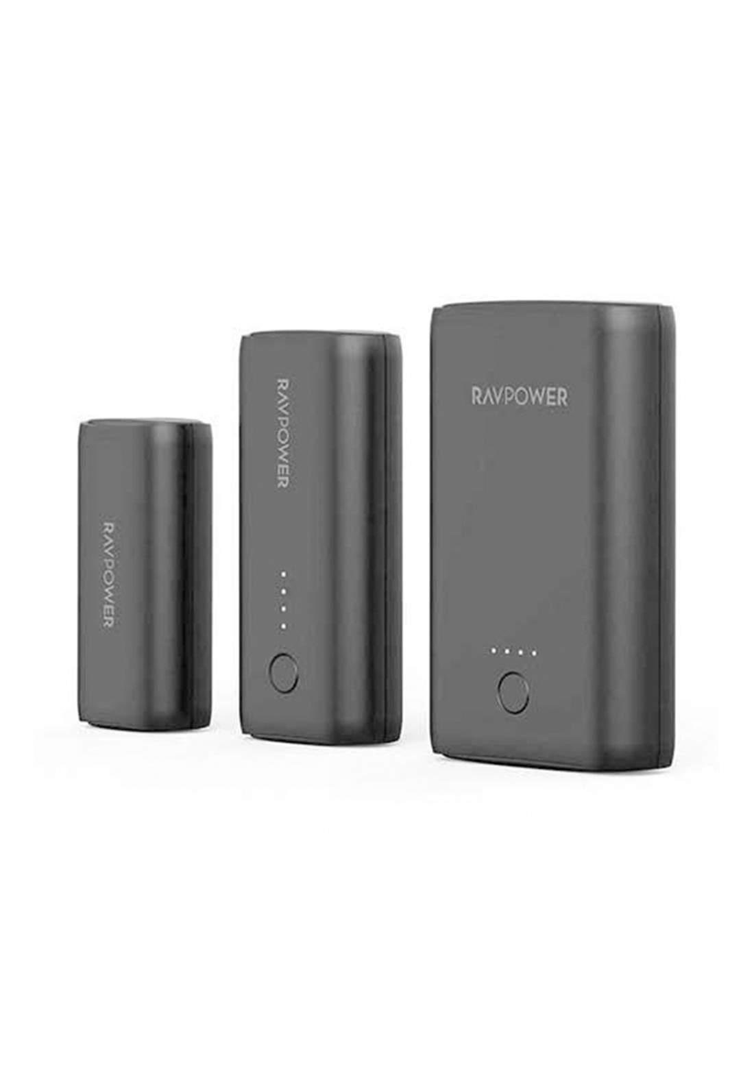 Rav Power 3 Pack Portable Charger 3350mAh, 6700mAh, 10050mAh- Black
