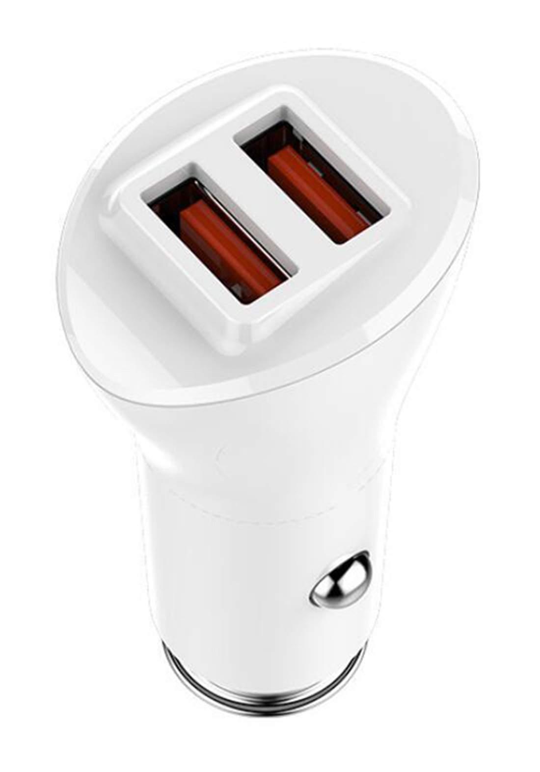 Ldnio  C511Q 36W USB 3.0 2port QC3.0 Car Charger- White