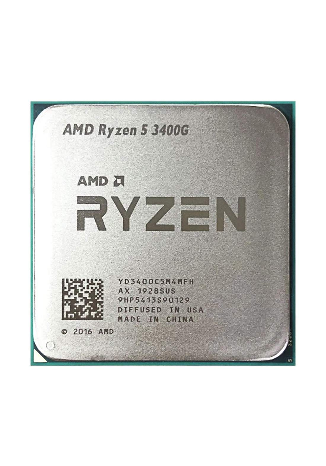 AMD R5 3400G CPU Processor Tray معالج