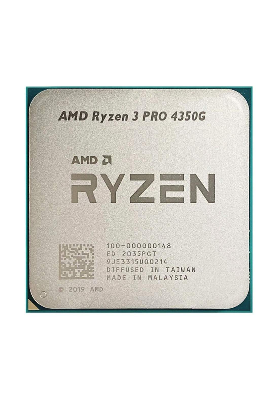 AMD R3 4350G CPU Processor Tray معالج
