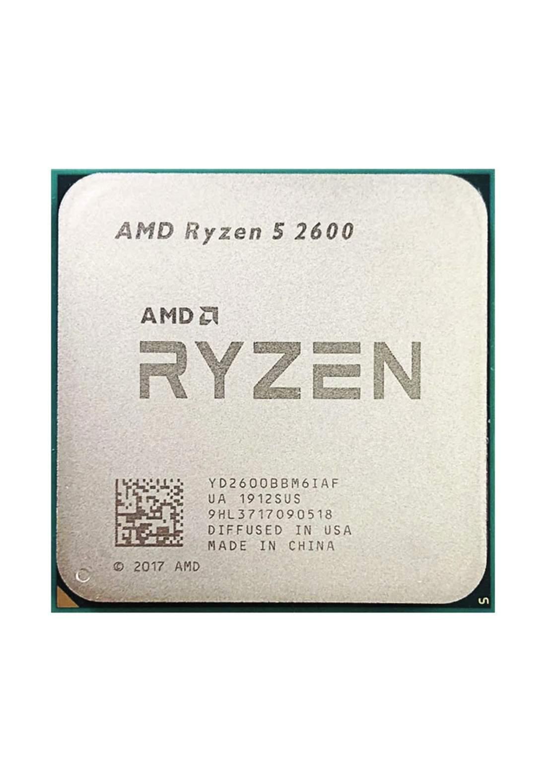 AMD R5 2600 CPU Processor Tray معالج