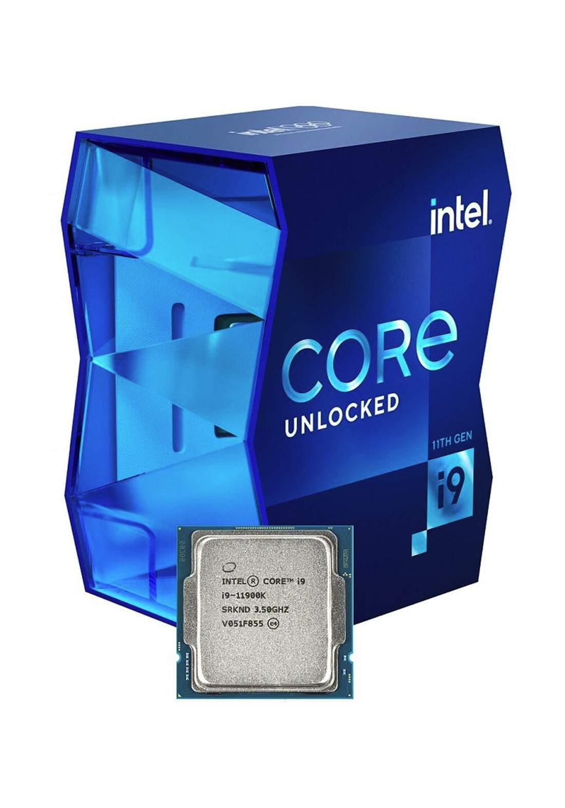 Intel Core i9 11900K Processor Box سيت معالج