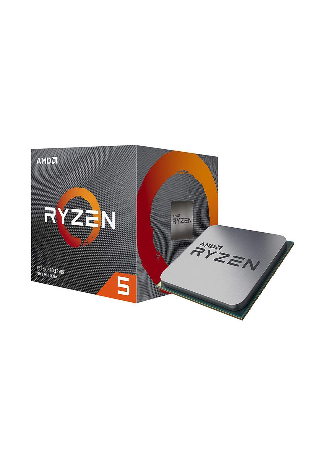 AMD R5 3600X CPU Processor Box  سيت معالج
