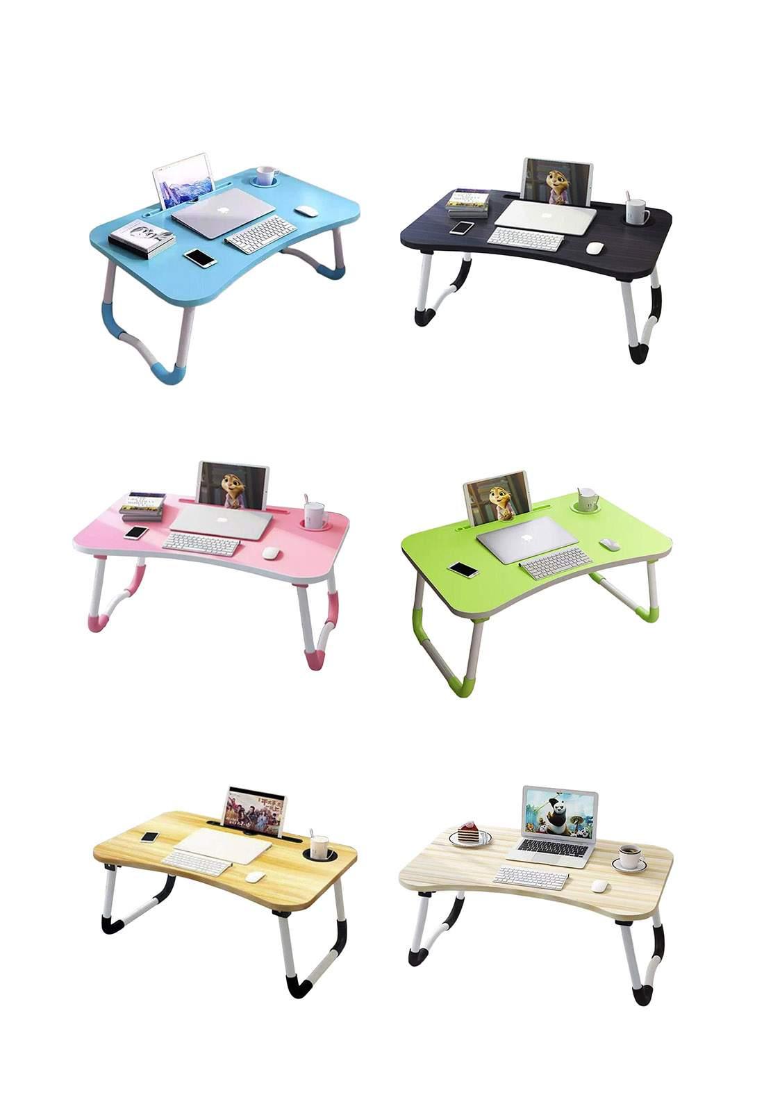 Portable Folding Desk Laptop Tablet Cup Holder Multipurpose Learning Table منضدة لابتوب