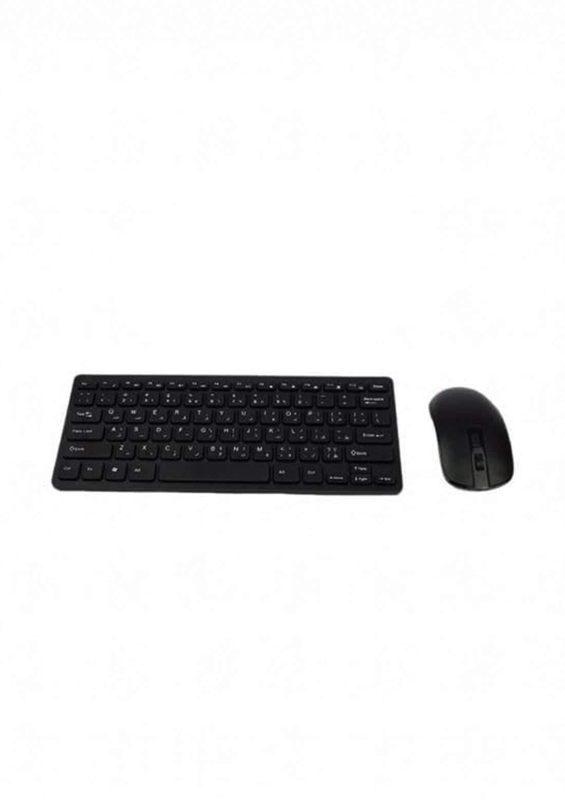 Mini KM901 Keaborad And Mouse Wireless-White لوحة مفاتيح وماوس