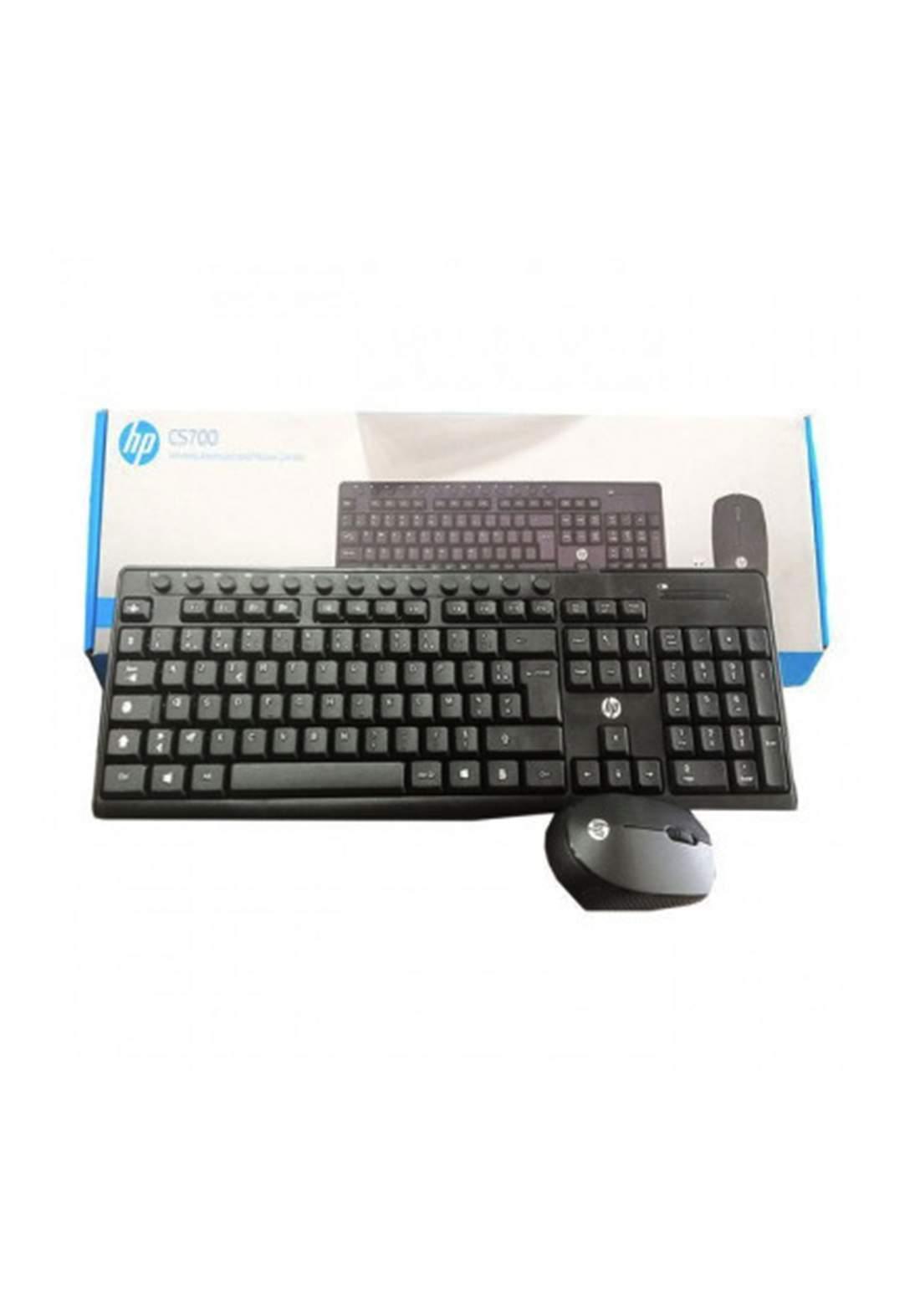 HP Cs700 Wireless Keyboard & Mouse Bundle - Black  لوحة مفاتيح وماوس