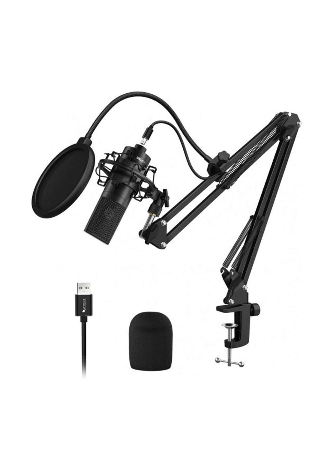Fifine K780  Recording USB Microphone With Arm Stand-Black  مايكروفون