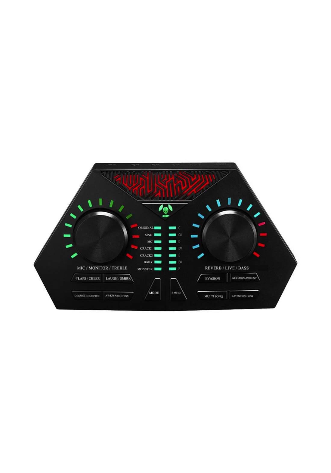 Widewing MAX730 External USB Sound Card Headset Singing Microphone- Black