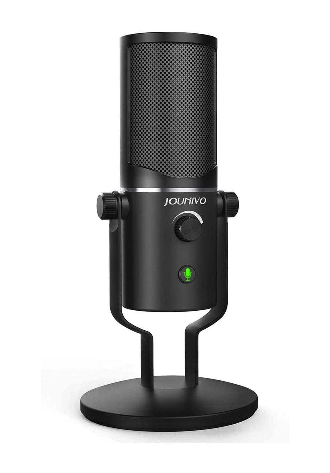 Jounivo USB Microphone JV-902 Computer Cardioid Condenser -Black مايكروفون