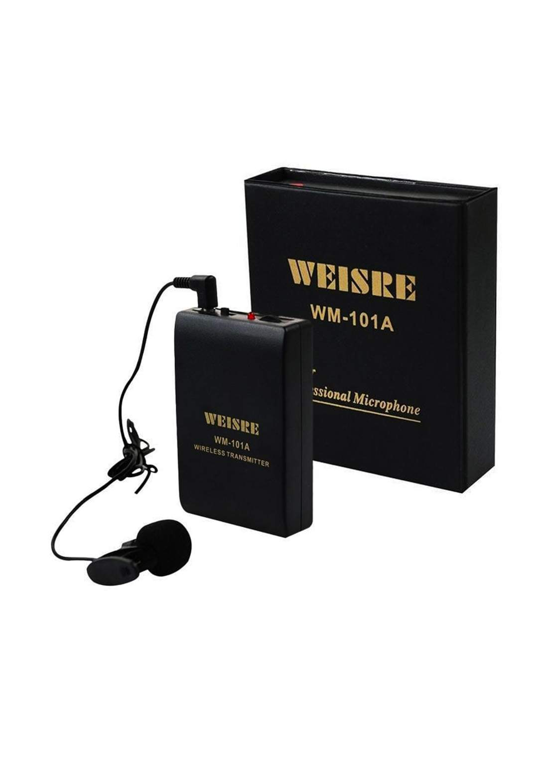 Weisre Wm-101A Professional Wireless Lavalier Microphone-Black مايكروفون