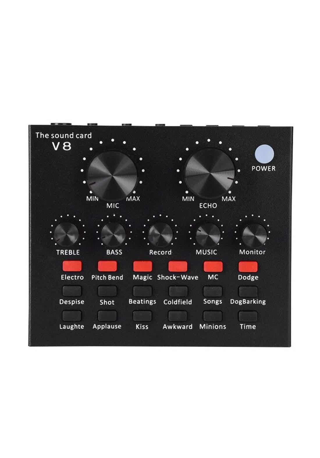 Bluetooth V8 Live Audio  External Sound Card - Black
