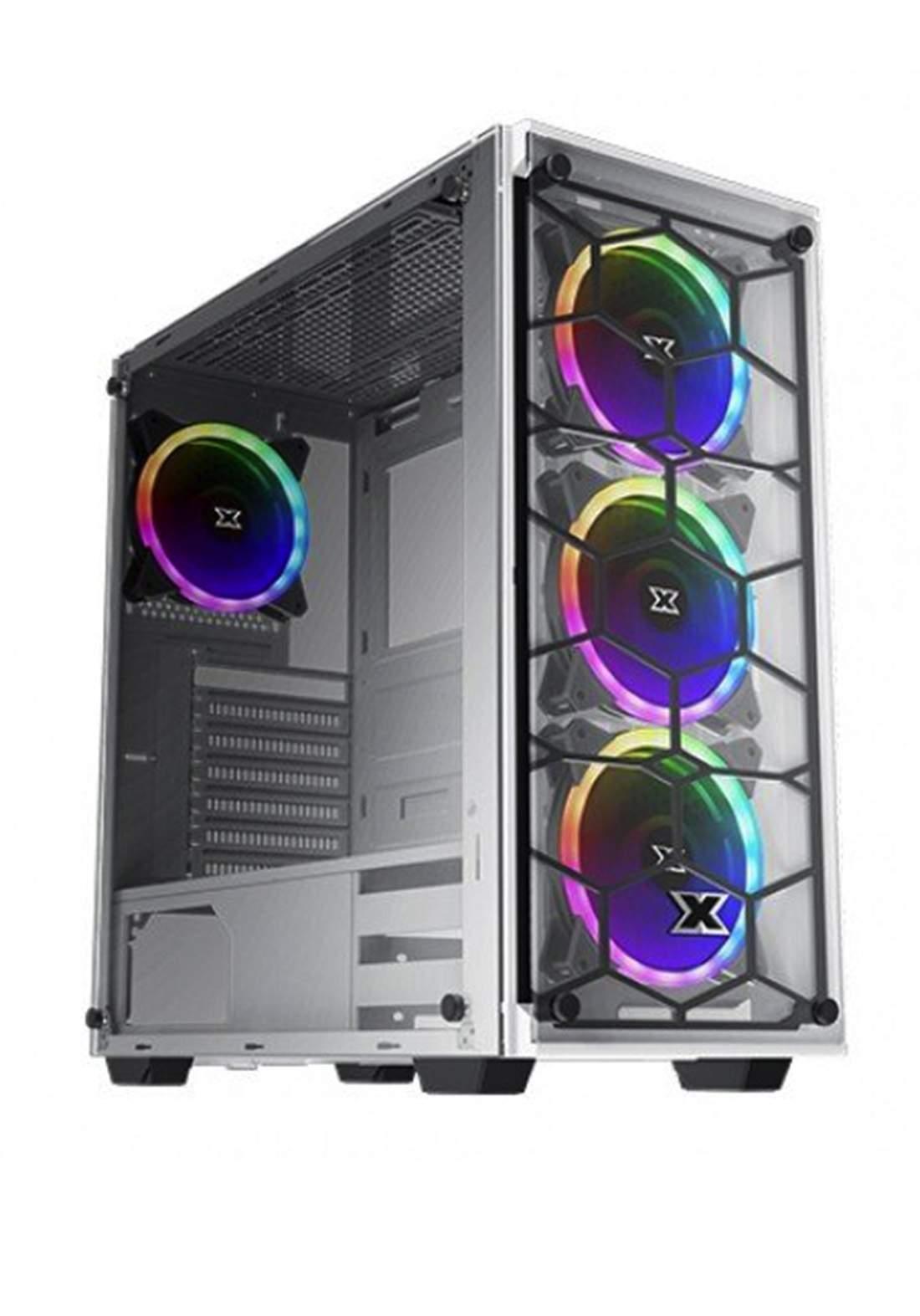 Xigmatek Venom Case X Rgb Tempered Glass - Gray كيس حاسبة