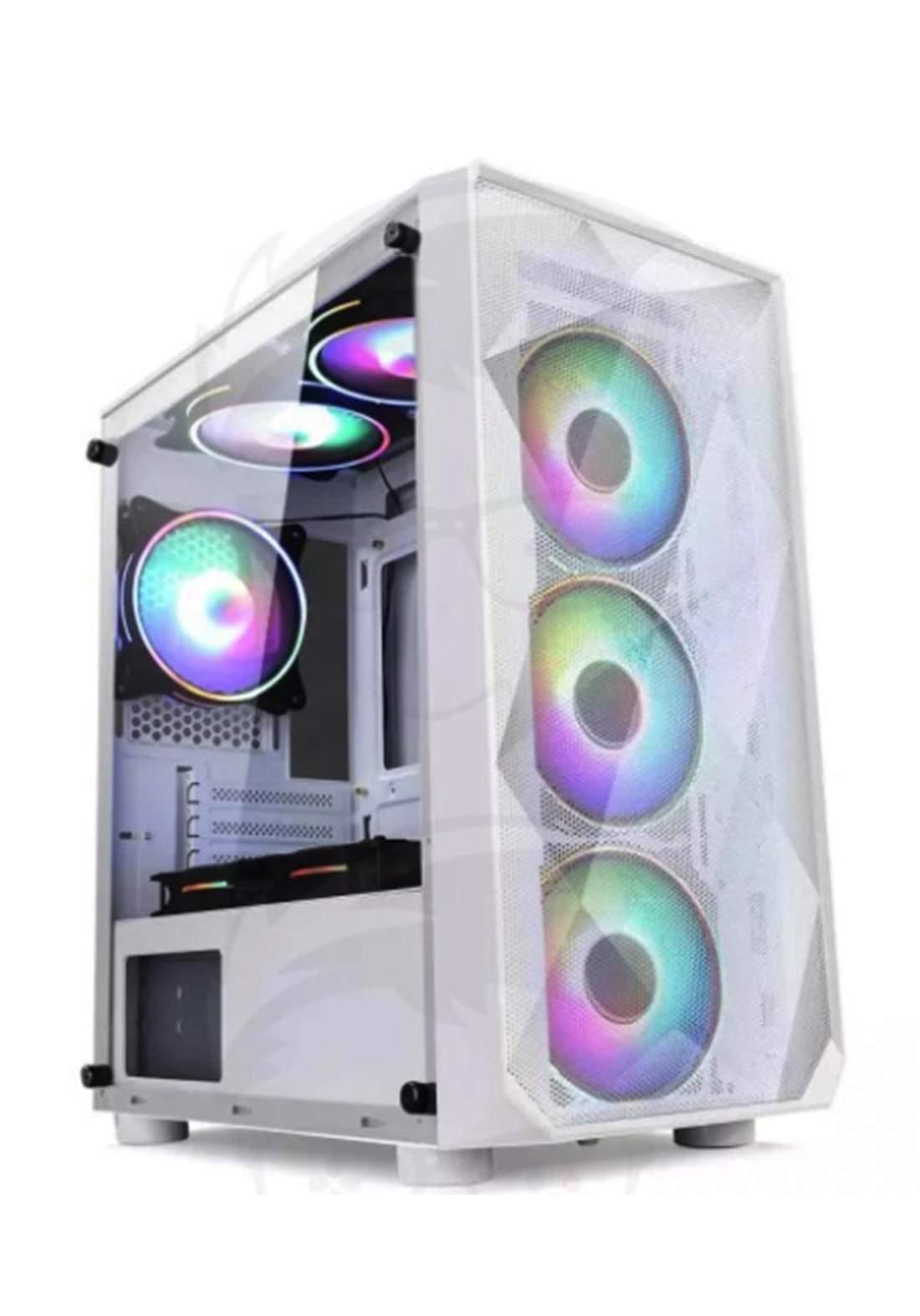 Power Train Magic Box Computer Case 3Fans - White  كيس حاسبة