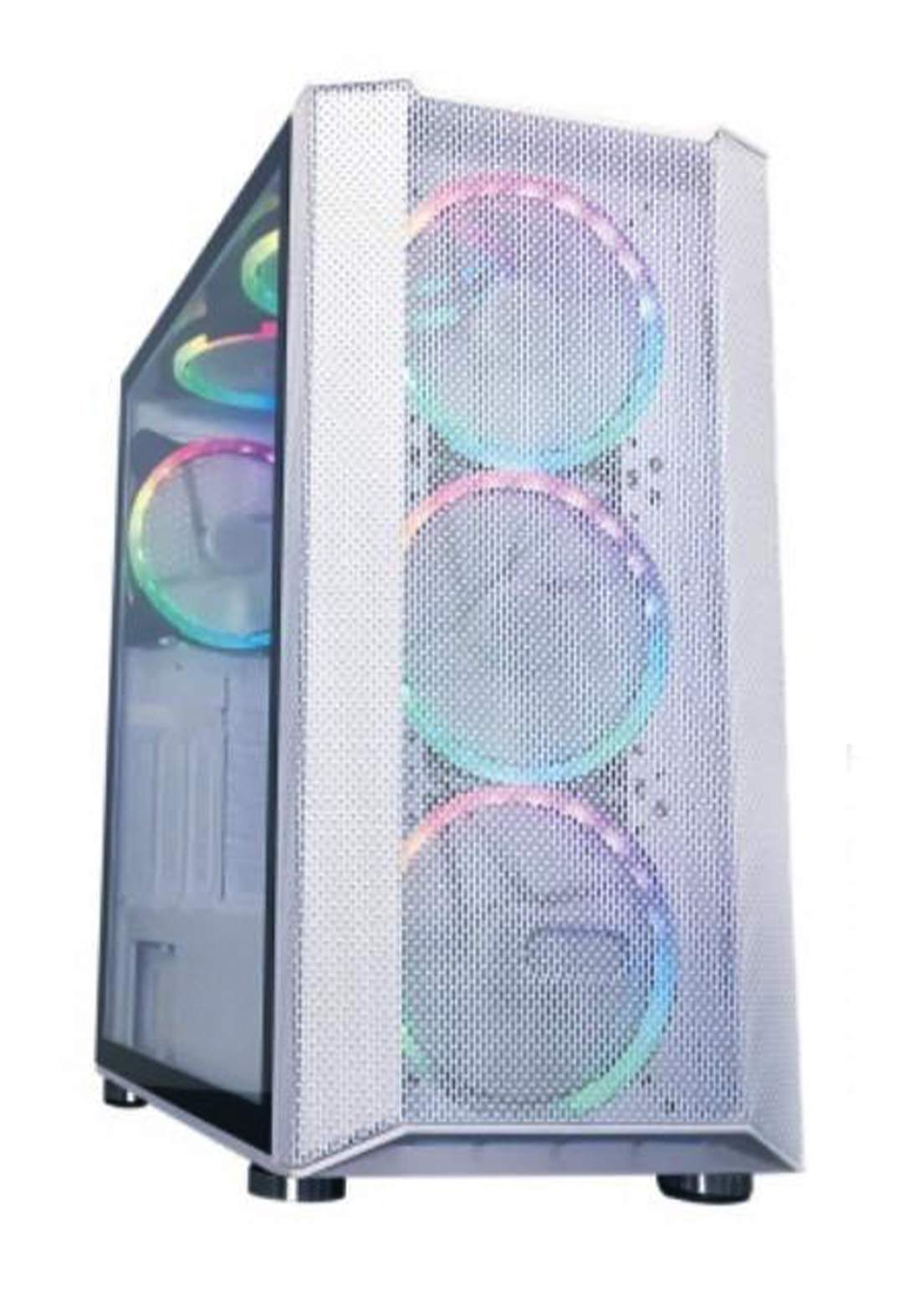 Sate K881 Gaming Case 6 Fans - White  كيس حاسبة