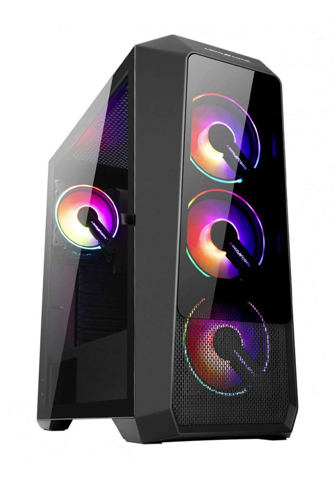 Abkoncore Helios H300G Sync PC Case - Black كيس حاسبة