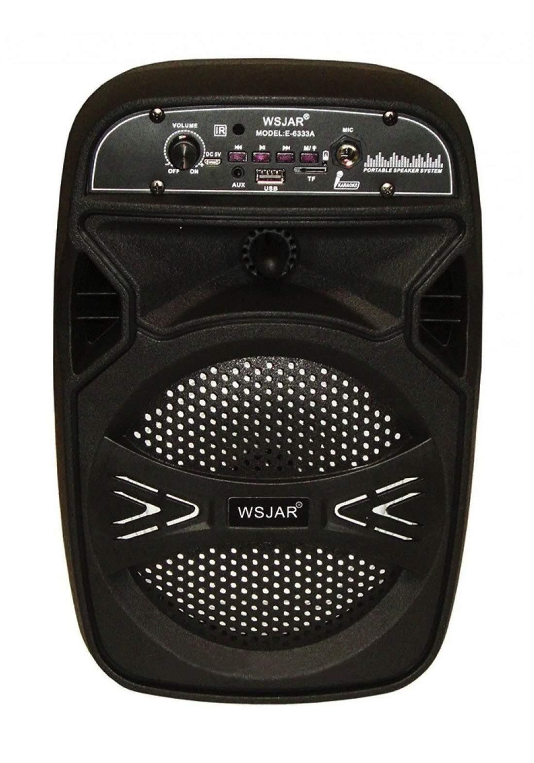 Wsjar E6333A Portable Bluetooth Speaker - Black مكبر صوت