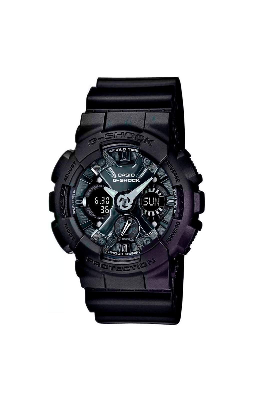 ساعة نسائية رياضية Casio GMA-S120MF-1ADR سوداء اللون