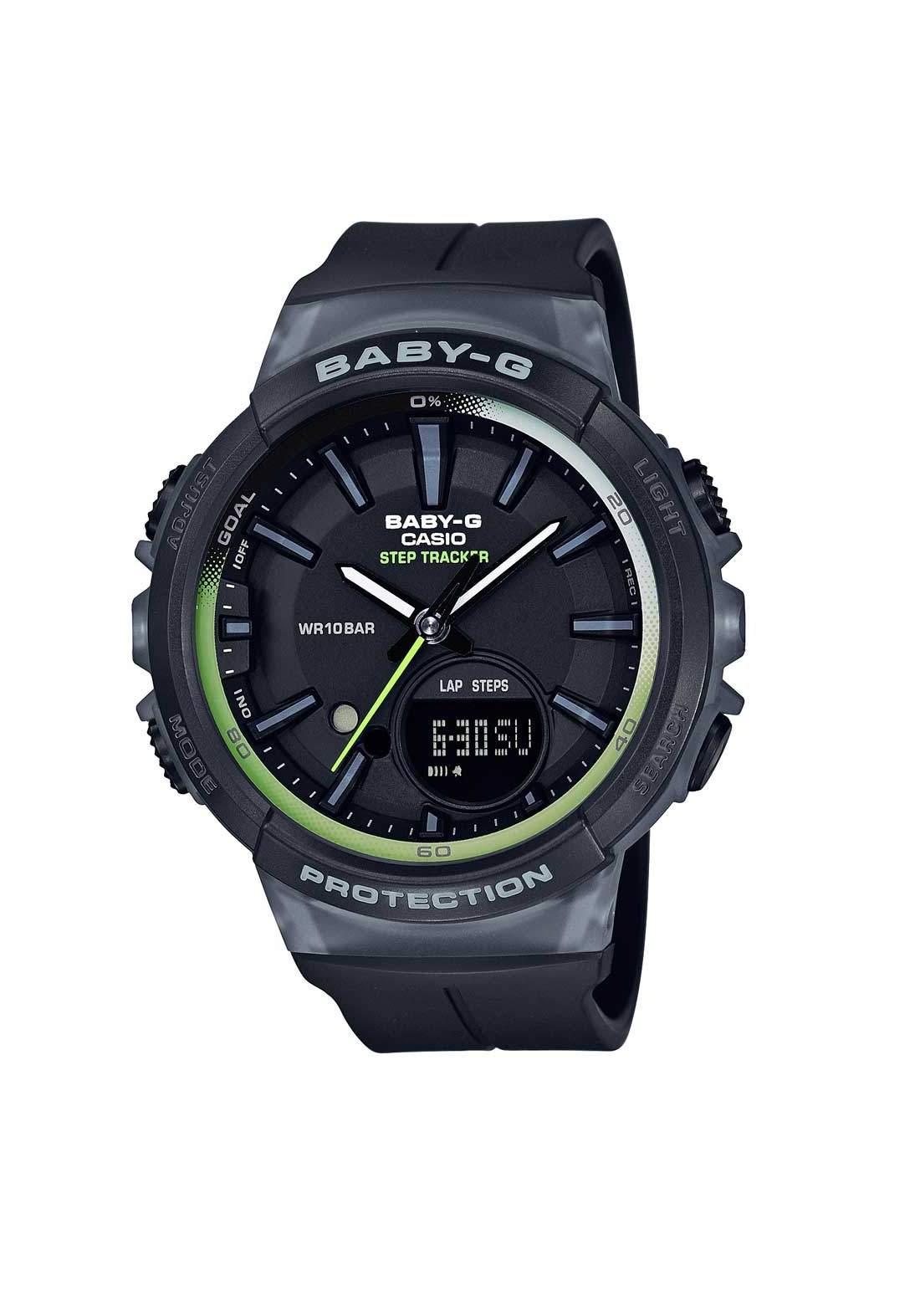 ساعة نسائية رياضية Casio BGS-100-1ADR سوداء اللون