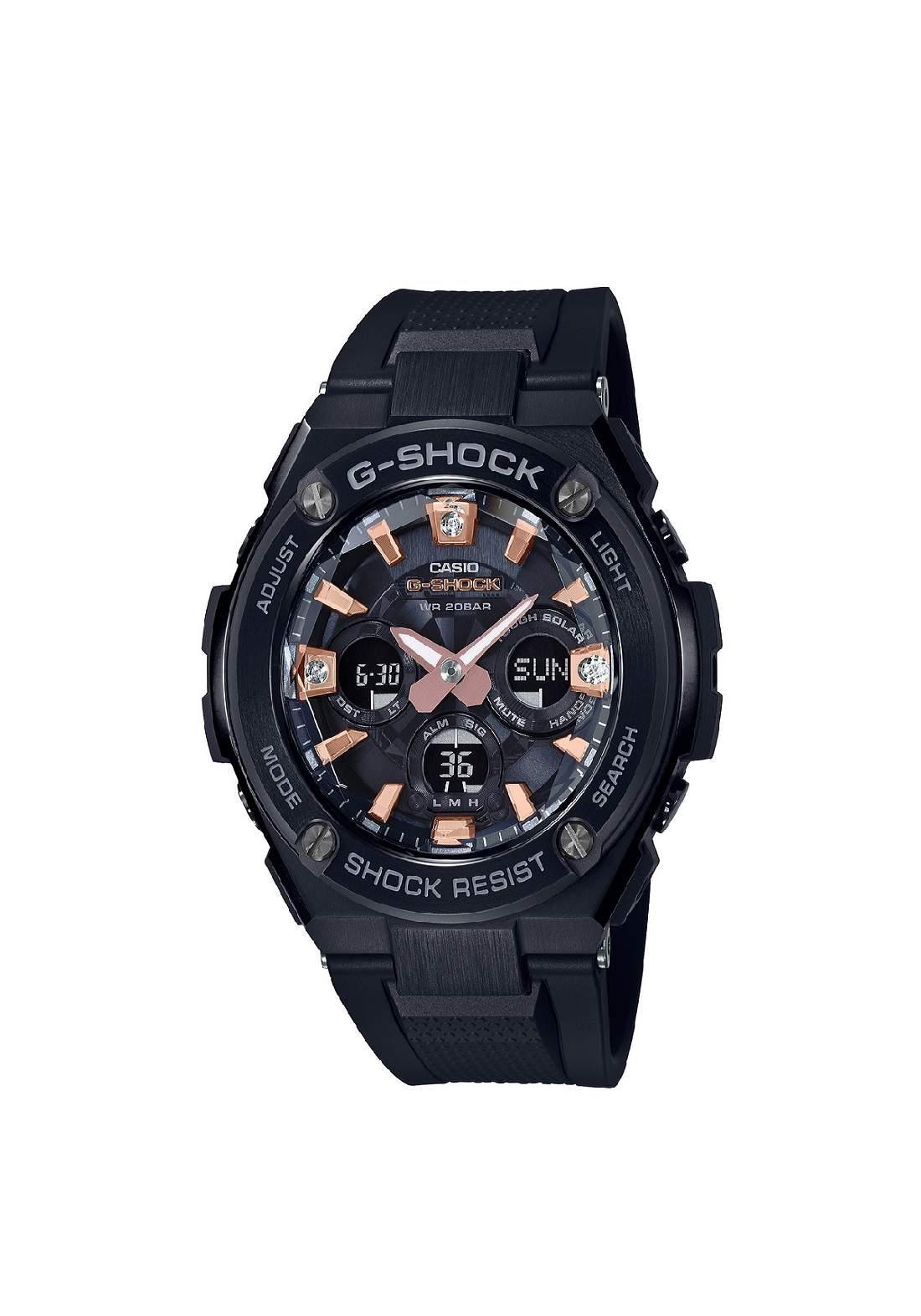ساعة نسائية رياضية Casio GST-S310BDD-1ADR سوداء اللون
