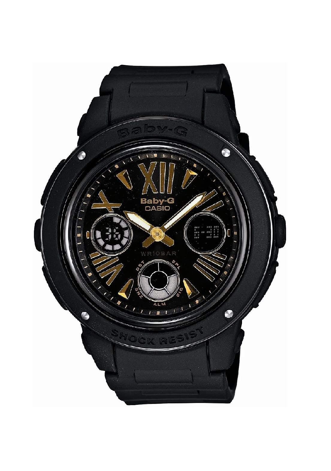 ساعة نسائية رياضية Casio BGA-153-1BSDR سوداء اللون