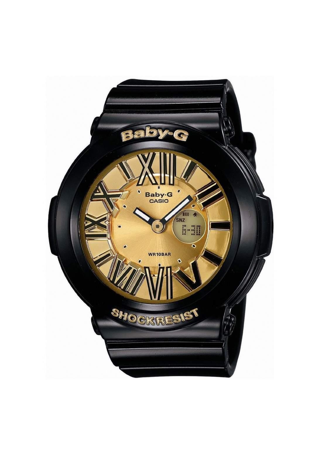 ساعة نسائية رياضية Casio BGA-160-1BDR سوداء اللون