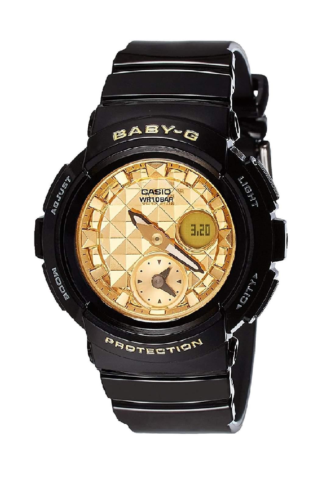 ساعة نسائية رياضية Casio BGA-195M-1ADR سوداء اللون