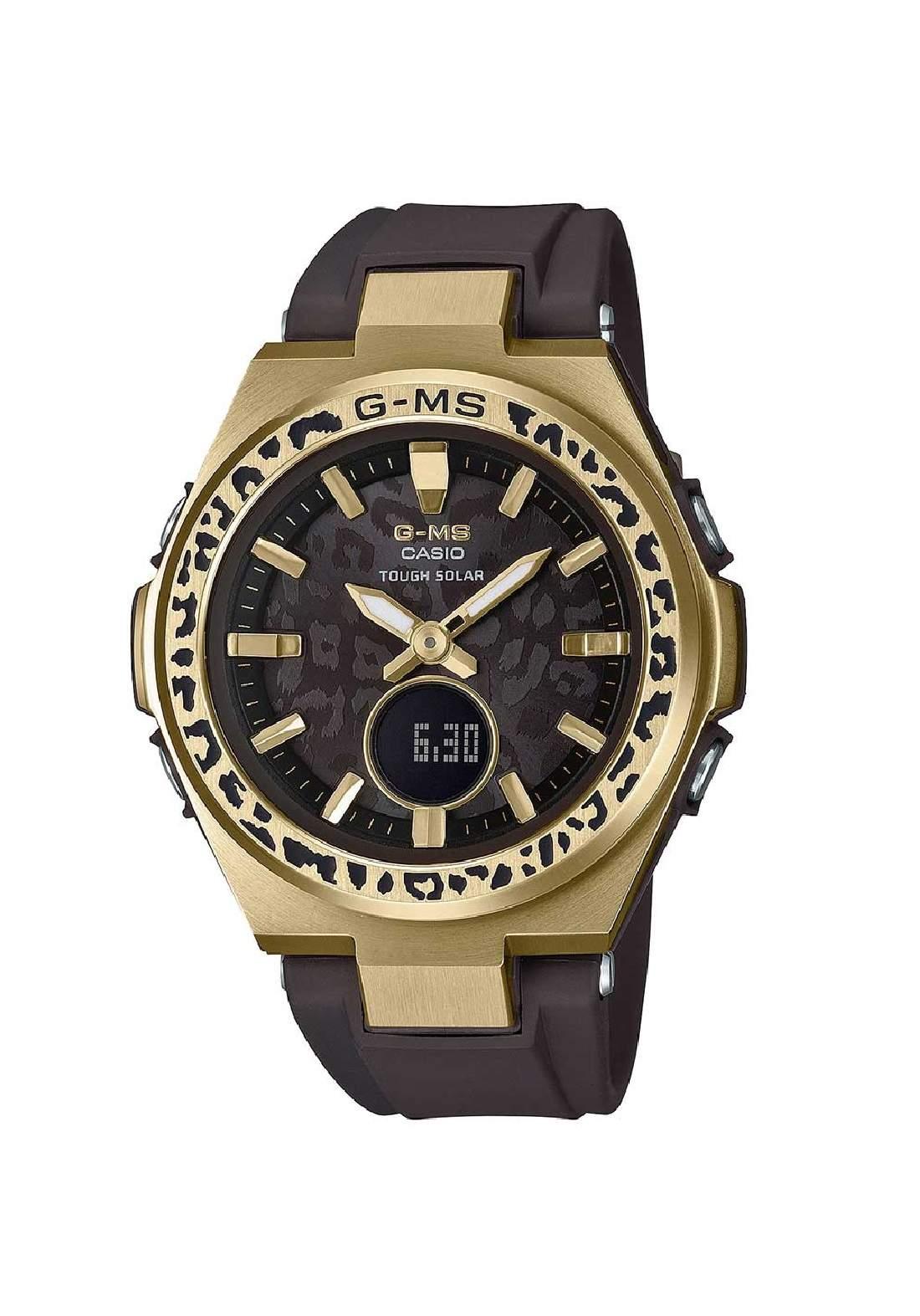 ساعة نسائية Casio MSG-S200WLP-5ADR بنية اللون