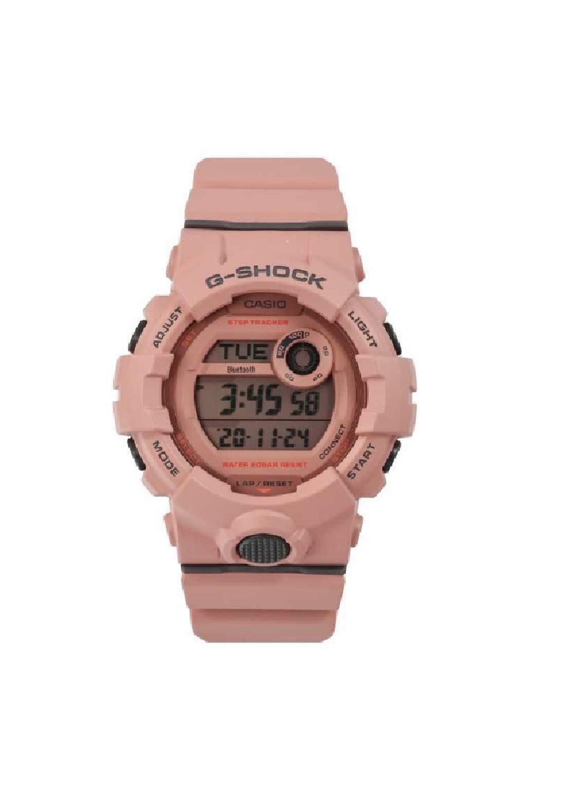 ساعة نسائية رياضية Casio GMD-B800SU-4DR وردية اللون