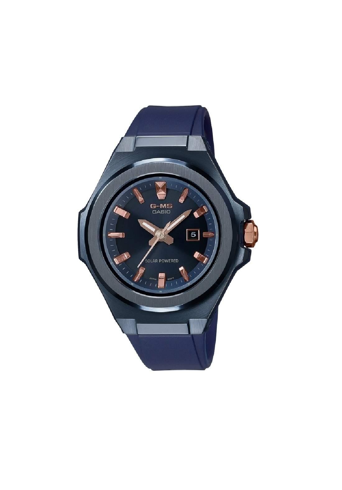 ساعة نسائية رياضية Casio MSG-S500G-2A2DR نيلية اللون