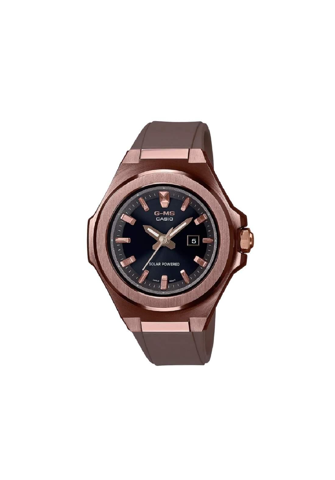 ساعة نسائية رياضية Casio MSG-S500G-5ADR بنية اللون