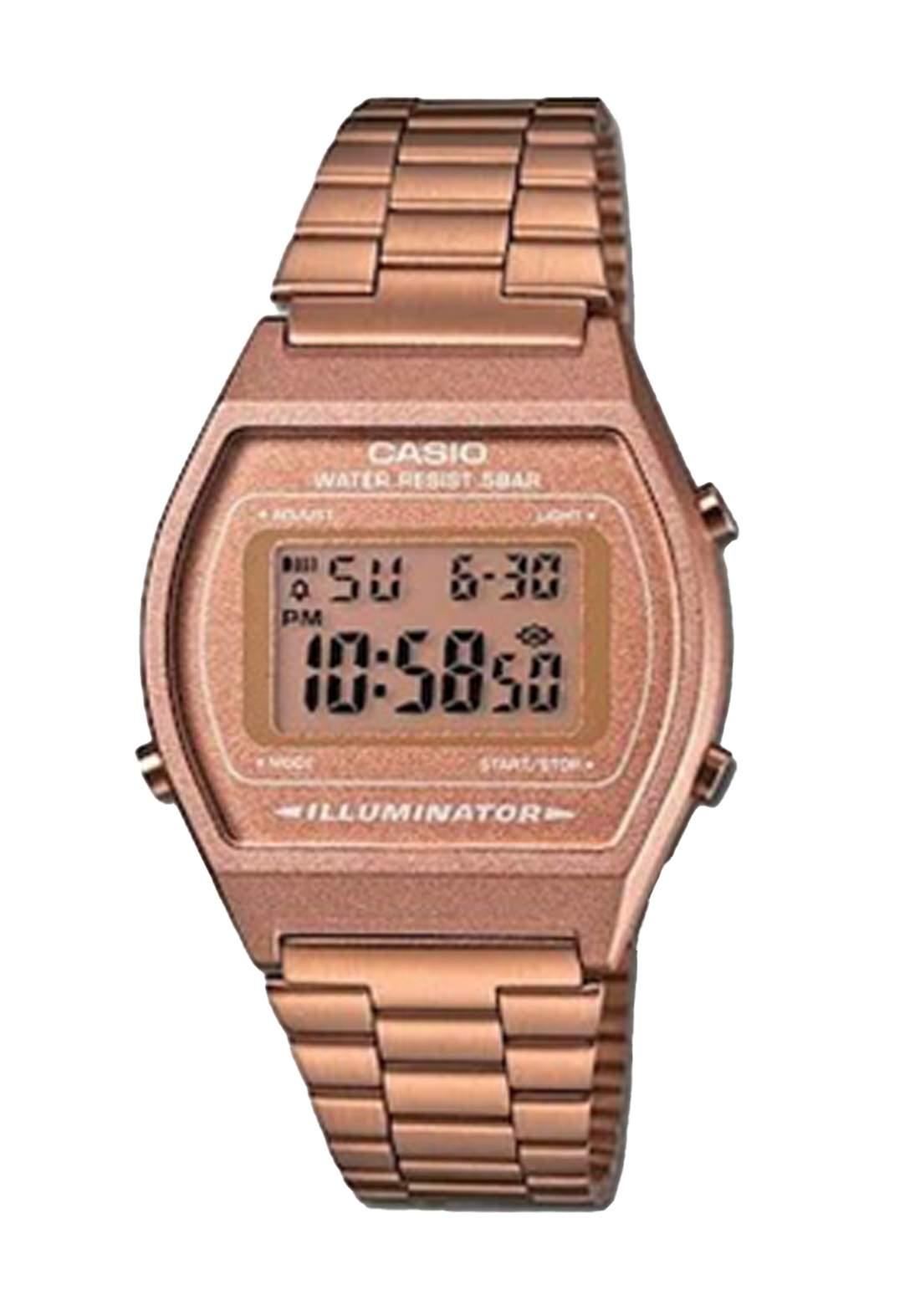 Casio B640WC-5ADF Women's Watch (ROSE GOLD) ساعة نسائية