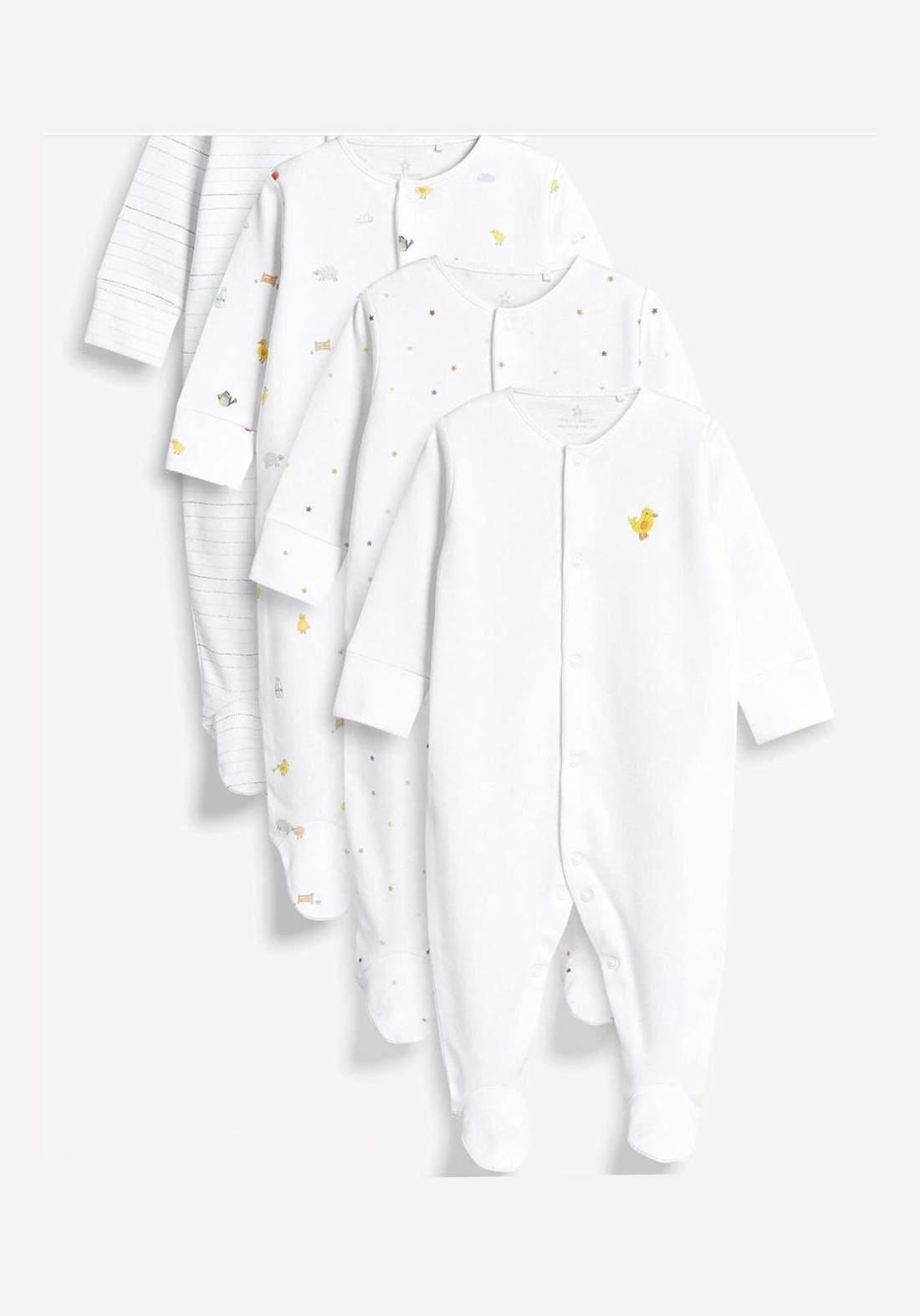 سيت اوفرات حديثي الولادة أبيض اللون من Next